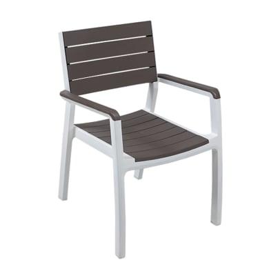Sedia in polipropilene Harmony ALLIBERT colore bianco/cappuccino