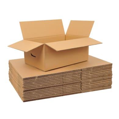 Scatola di cartone per imballare 20 pezzi 2 onde L 60 x H 30 x P 30 cm