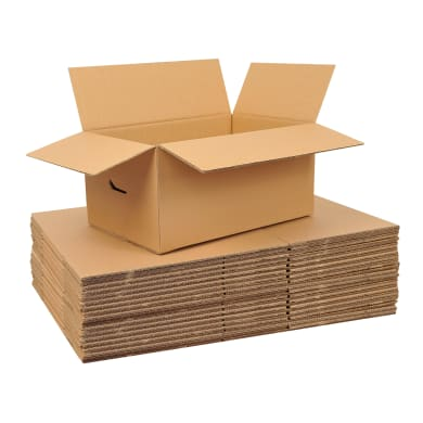 Scatola di cartone 20 pezzi 2 onde L 60 x H 40 x P 40 cm