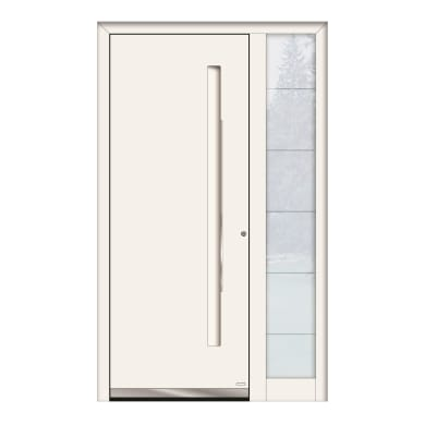 Portoncino d'ingresso QE10 bianco L 120 x H 210 cm sinistra