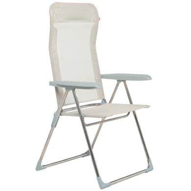 Sedia a sdraio pieghevole Relax in alluminio beige