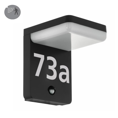 Applique Amorosi per numeri civici LED integrato in alluminio, nero, 11W 1200LM IP44 EGLO