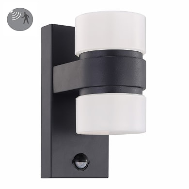 Applique Atollari LED integrato in alluminio, antracite, 12W 1000LM IP44 EGLO