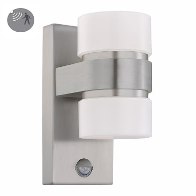 Applique Atollari LED integrato in alluminio, argento, 12W 1000LM IP44 EGLO