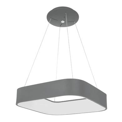 Lampadario Moderno Grand LED integrato grigio, in metallo, L. 45 cm, WOFI