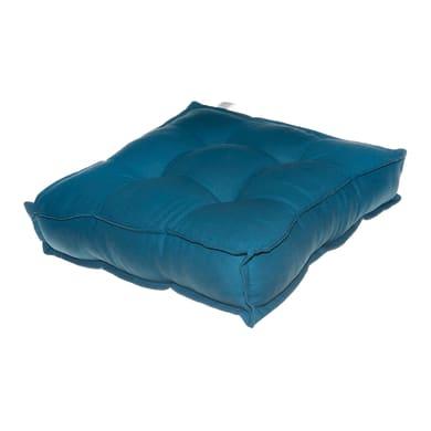 Cuscino da pavimento Greta blu petrolio 40x40 cm