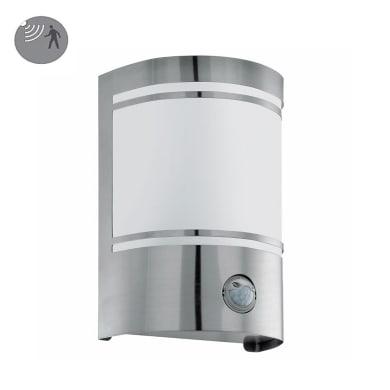 Applique CERNOin acciaio inossidabile, bianco e grigio, E27 MAX40W IP44 EGLO
