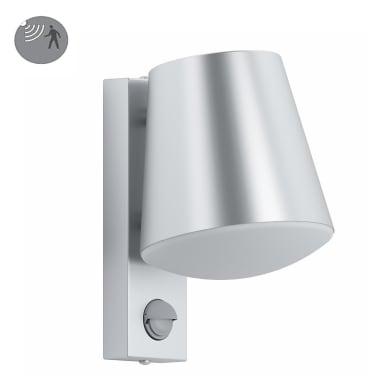 Applique Caldiero con sensore di movimento, in acciaio, acciaio, 10W 1500LM IP44 EGLO