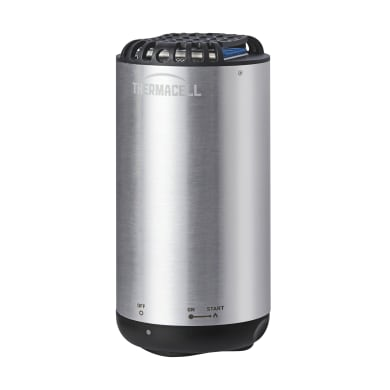 Repellente ricarica per zanzare THERMACELL THERMACELL MINI HALO NICHEL la confezione contiene 1 dispositivo, 1 bomboletta, 3 piastrine