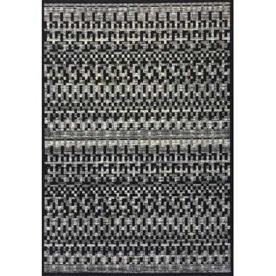 Tappeto Lotus , nero, 100x140 cm