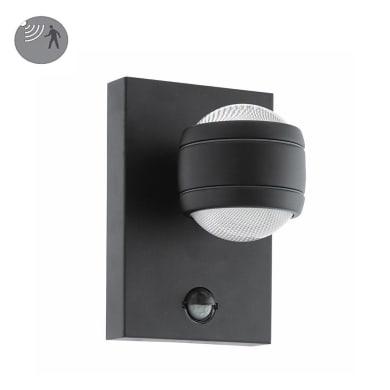 Applique Sesimba LED integrato con sensore di movimento,  in acciaio galvanizzato, nero, 3.7W 560LM IP44 EGLO