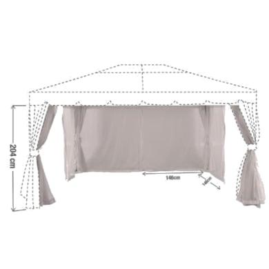 Tenda zanzariera Yxis marrone L 292 x H 204 cm