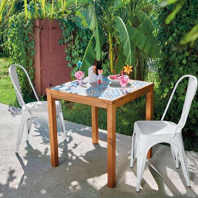 Set tavolo e sedie Soho in acciaio multicolore 2 posti