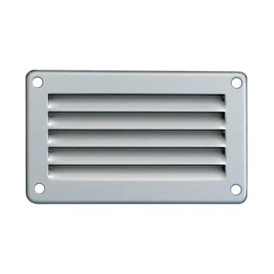 Griglia di aerazione in acciaio forma rettangolare L 10 x H 6 cm