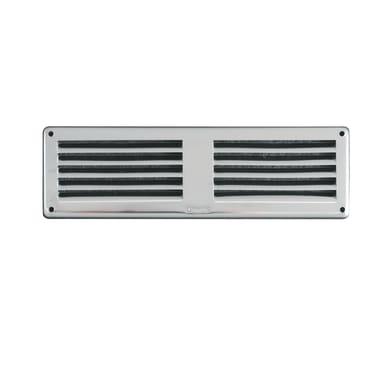 Griglia di aerazione in acciaio forma rettangolare L 20 x H 6 cm