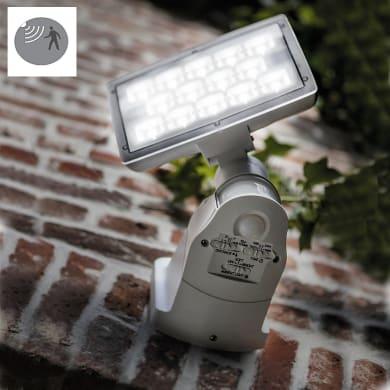 Applique Peri LED integrato con sensore di movimento,  in policarbonato, grigio, 20W 1710LM IP54 LUTEC