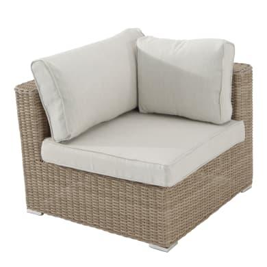 Poltrona da giardino con cuscino  in alluminio Costarica NATERIAL colore beige