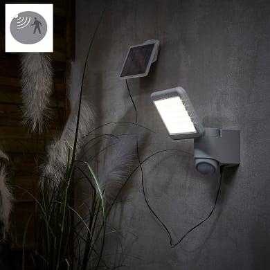 Proiettore solare Melo LED integrato argento e bianco 9W 850LM IP54 INSPIRE