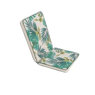 Cuscino monoblocco Marjorie bianco e verde 95x4 cm