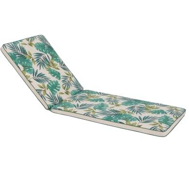 Cuscino per lettino Marjorie bianco e verde 190x5 cm