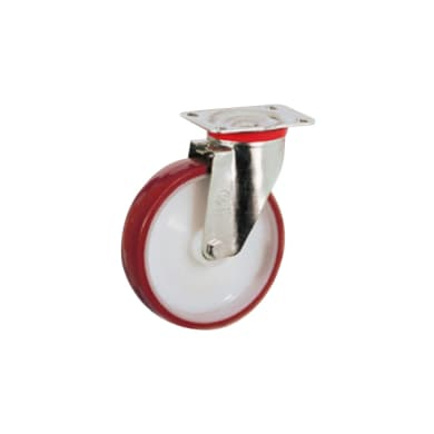 Ruota in poliuretano bianco e rosso Ø 100 cm