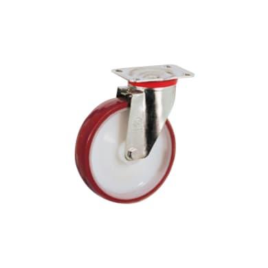 Ruota in poliuretano bianco e rosso Ø 125 cm