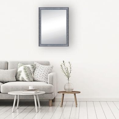 Specchio a parete rettangolare Sibilla argento 69x89 cm