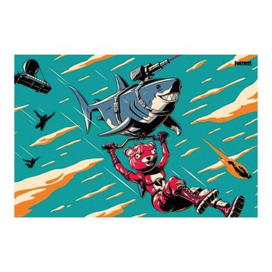 Poster Laser Shark 61x91.5 cm