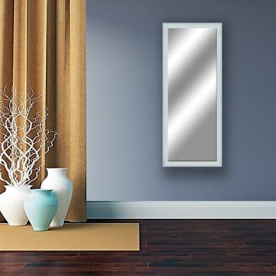 Specchio a parete rettangolare Sibilla bianco 49x134 cm