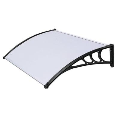 Pensilina in policarbonato L 120 x P 80 cm struttura Alluminio