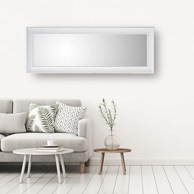Specchio a parete rettangolare Denise bianco 60x160 cm