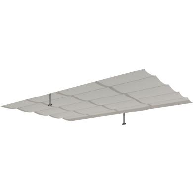 Telo di ricambio in poliestere per pergola Omega, grigio / argento 249 x 340 cm