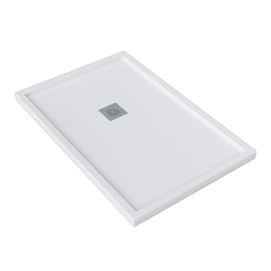 Piatto doccia gelcoat Logic bordo 70 x 100 cm bianco