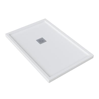 Piatto doccia gelcoat Logic bordo 70 x 90 cm bianco