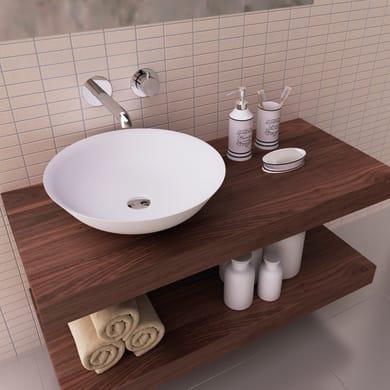Lavabo free-standing da posizionare sul top o sul muro / da appoggio rotondo BOL 41Øx11,5 in ceramica Ø 41 x bianco