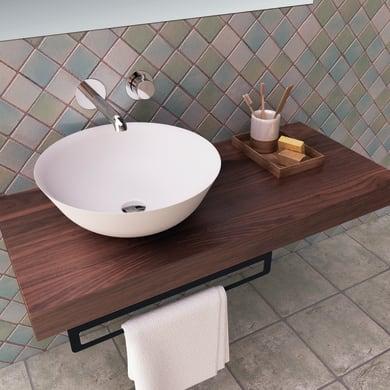 Lavabo free-standing da posizionare sul top o sul muro / da appoggio rotondo BOL 41Øx15 in ceramica Ø 41 x bianco
