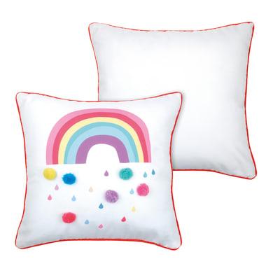 Cuscino Cloudy bianco e multicolore 40x40 cm