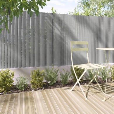 Canniccio doppia vista pvc NATERIAL grigio chiaro L 5 x H 2 m