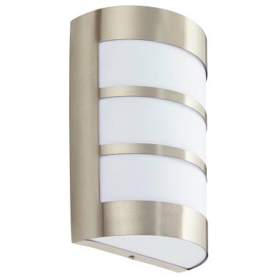 Applique per giardino Montreal in acciaio inossidabile, argento, E27 MAX40W IP44 INSPIRE