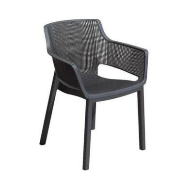 Sedia in polipropilene Elisa ALLIBERT colore graphite