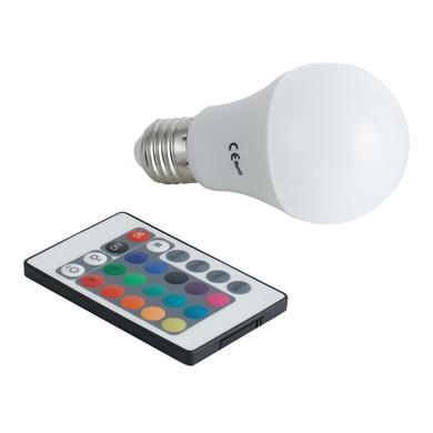 Lampadina LED, E27, Goccia, Opaco, RGB, 7.5W=550LM (equiv 46 W), 180°