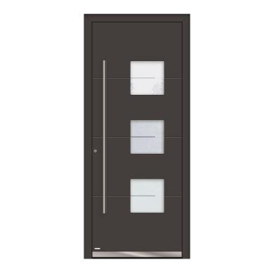 Portoncino d'ingresso QP40 grigio L 80 x H 210 cm destra
