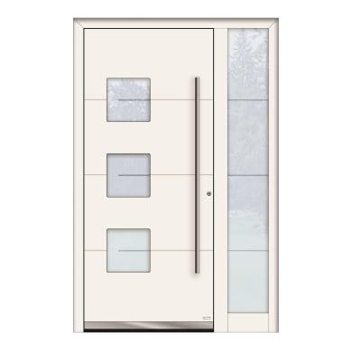 Portoncino d'ingresso QP40 bianco L 130 x H 210 cm sinistra