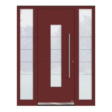 Portoncino d'ingresso QB50 rosso L 160 x H 210 cm sinistra