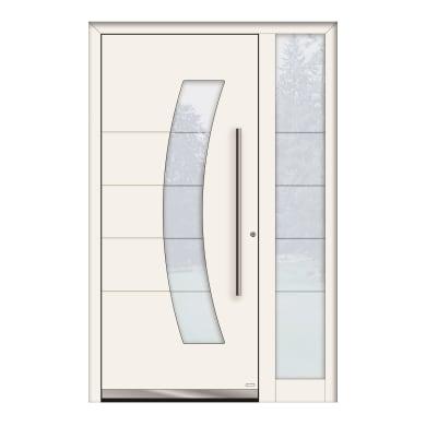 Portoncino d'ingresso QS70 bianco L 130 x H 210 cm sinistra