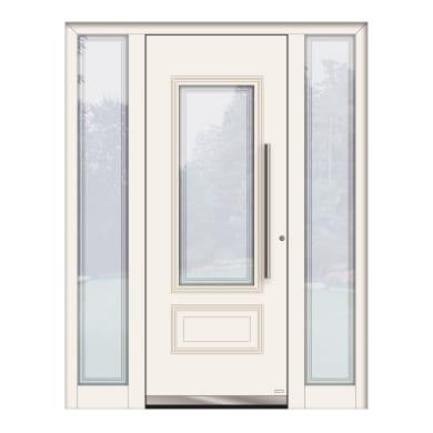 Portoncino d'ingresso QT80 bianco L 160 x H 210 cm sinistra