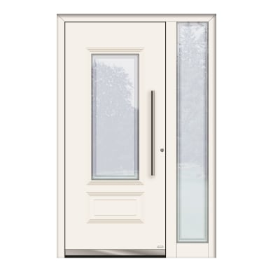 Portoncino d'ingresso QT80 bianco L 130 x H 210 cm sinistra