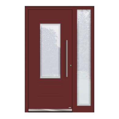 Portoncino d'ingresso QT80 rosso L 130 x H 210 cm sinistra