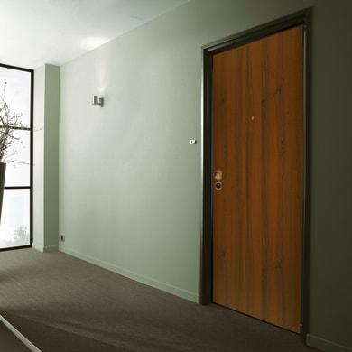 Porta blindata Alarm noce L 90 x H 210 cm destra