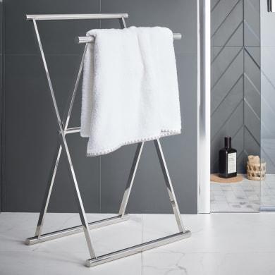 Piantana porta asciugamani Easy in inox lucido cromo